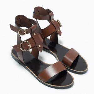czarno brązowe sandały