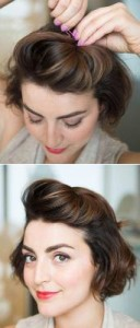 spięte włosy