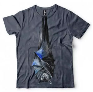 koszulka z nietoperzem