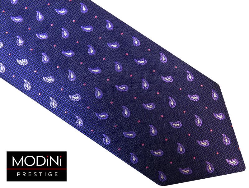 granatowo fioletowy krawat