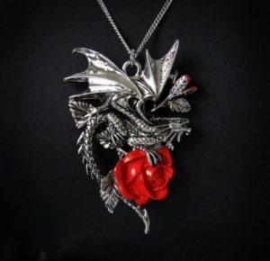 naszyjnik smok róża