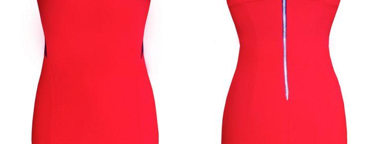 bandażowa sukienka czerwona