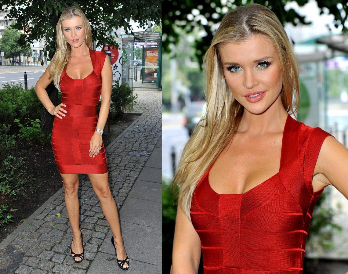 Joanna Krupa w czerwonej sukience