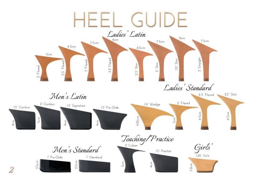buty do tańca obcasy rodzaje