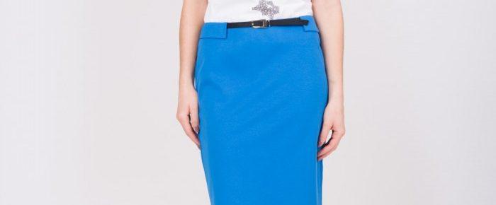 spódnica ołówkowa niebieska