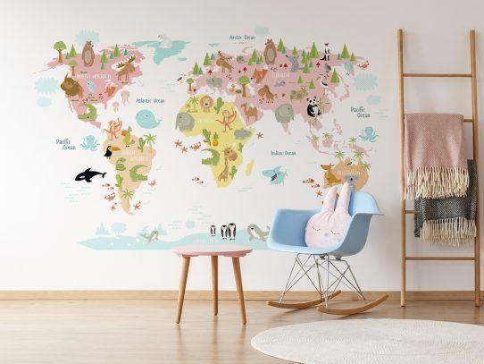 Naklejki do pokoju dziecięcego – podaruj szkrabowi idealną do zabawy przestrzeń
