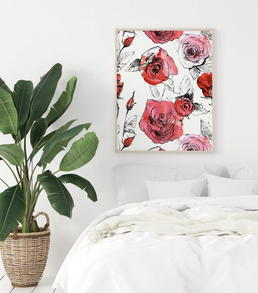 plakat kwiaty róże