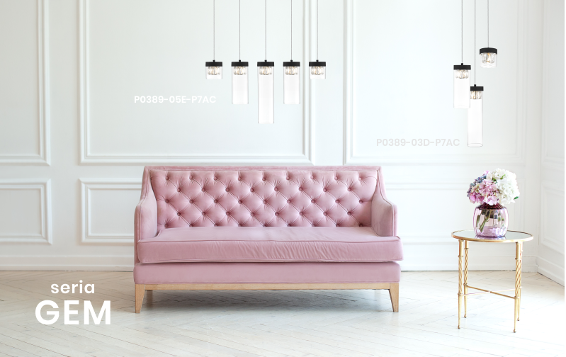 lampy wiszące nad sofą