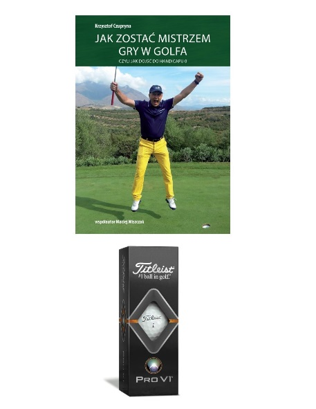 Zestaw golfowy piłki golfowe książka golfowa