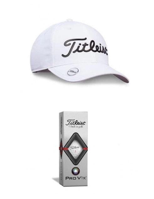 zestaw-golfowy czapka golfowa piłki golfowe